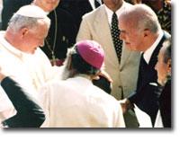 Il Papa Giovanni Paolo II incontra Marcello Candia a Marituba