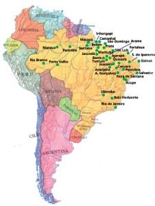 I luoghi del brasile in cui opera la Fondazione Candia